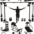 Royalty-Free Stock Vector Image: Sports training apparatus