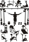Sports training apparatus — Stock Vector