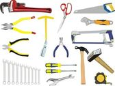 A set of hand tools — Stock Vector