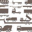 Trucks and trailers — Stock Vector