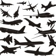 Royalty-Free Stock Vector Image: Set of silhouettes of aircraft