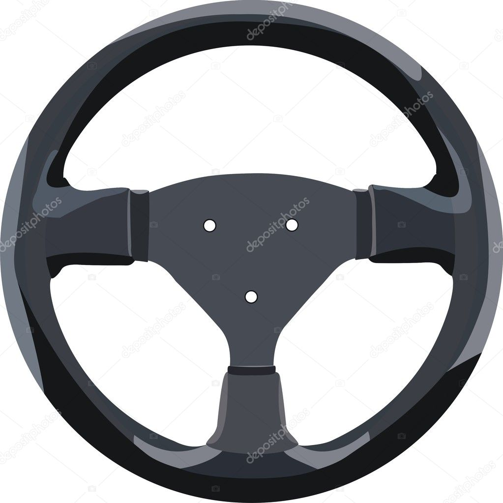 Wheel of a car separately on white  Stock Vector #6214368