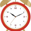 Royalty-Free Stock Vector Image: Red alarm clock