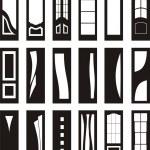 Interior doors — Stock Vector
