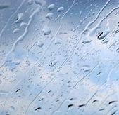 Raindrops on the windshield — Stock Photo
