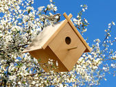 Birdhouse in garden — Stock Photo
