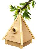 Birdhouse na gałązka — Zdjęcie stockowe