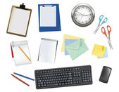 Algunos suministros de oficina. vector. — Vector de stock