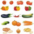 The big colorful group of vegetables. Photo-realistic vector. — Stock Vector #5738248