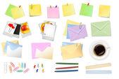 Office supplies. Vector. — Stock Vector