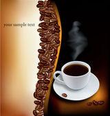 コーヒーの背景を設計します。ベクトル. — ストックベクタ
