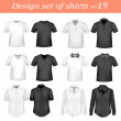 Royalty-Free Stock Vector Image: Black and white t-shirts. Photo-realistic vector illustration.