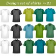 Black and color t-shirts. Photo-realistic vector illustration. — Stock Vector