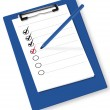 Clipboard with check-boxes. Vector. — Stock Vector
