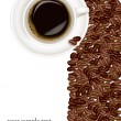 Royalty-Free Stock : Design with cup of coffee and coffee grains. Vector. Image ID: 63346588