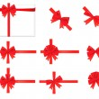Royalty-Free Stock Vector Image: Big set of red gift bows with ribbons. Vector.