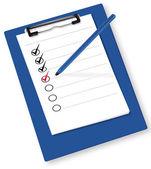 Clipboard with check-boxes. Vector. — Stock Vector