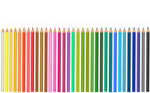 Background with color pencils. Vector — Stockvektor
