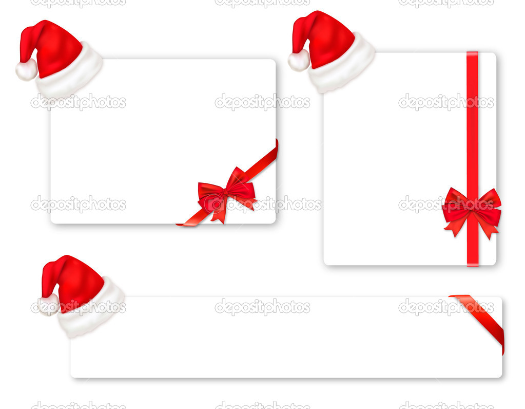 Vector illustration. Set of red bows with ribbons.   Stock Vector #5777092