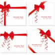 Royalty-Free Stock Imagem Vetorial: Vector illustration. Set of red bows with ribbons.
