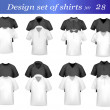 Black, white and grey men polo and t-shirts. Photo-realistic vector illustr — Stock Vector #5797657