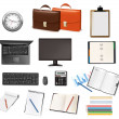 Business and office supplies. Vector. — Stock Vector #6095835