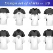 Set of colored shirts. Vector. — Stock Vector
