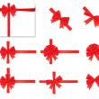 Collection of red bows. Vector. — Vettoriale Stock