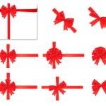 Коллекция красный лук. Вектор — Cтоковый вектор