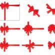 collection de noeuds rouges. Vector — Vecteur