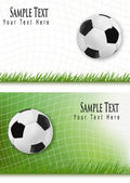 Two football backgrounds. Vector. — 图库矢量图片