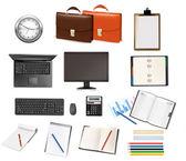 Iş ve ofis malzemeleri. vektör. — Stok Vektör
