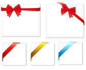 Collection of color bows with ribbons. Vector. — Stock Vector
