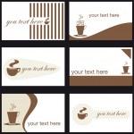 kartvizit, kahve — Stok Vektör