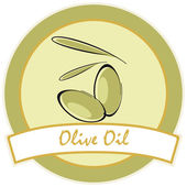 Etichetta di oli d'oliva — Vettoriale Stock