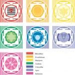 mandalas de chakras — Vecteur #6037862