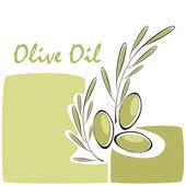 Olivolja etikett — Stockvektor