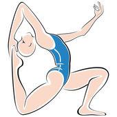 Yoga spor — Stok Vektör