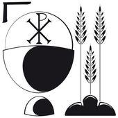 Hıristiyan sembolleri — Stok Vektör