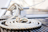 Nautical mooring rope — Photo
