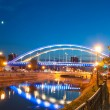 Basarab bridge in the night - Stock Photo