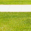 Sidewalk in the grass — Stockfoto