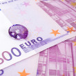 Euro and Amethyst — Stock Photo