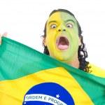 Brazilian Supporter — Stock Photo
