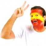 Spanish Supporter — Stock Photo
