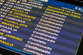 Flight information panel — Stock Photo