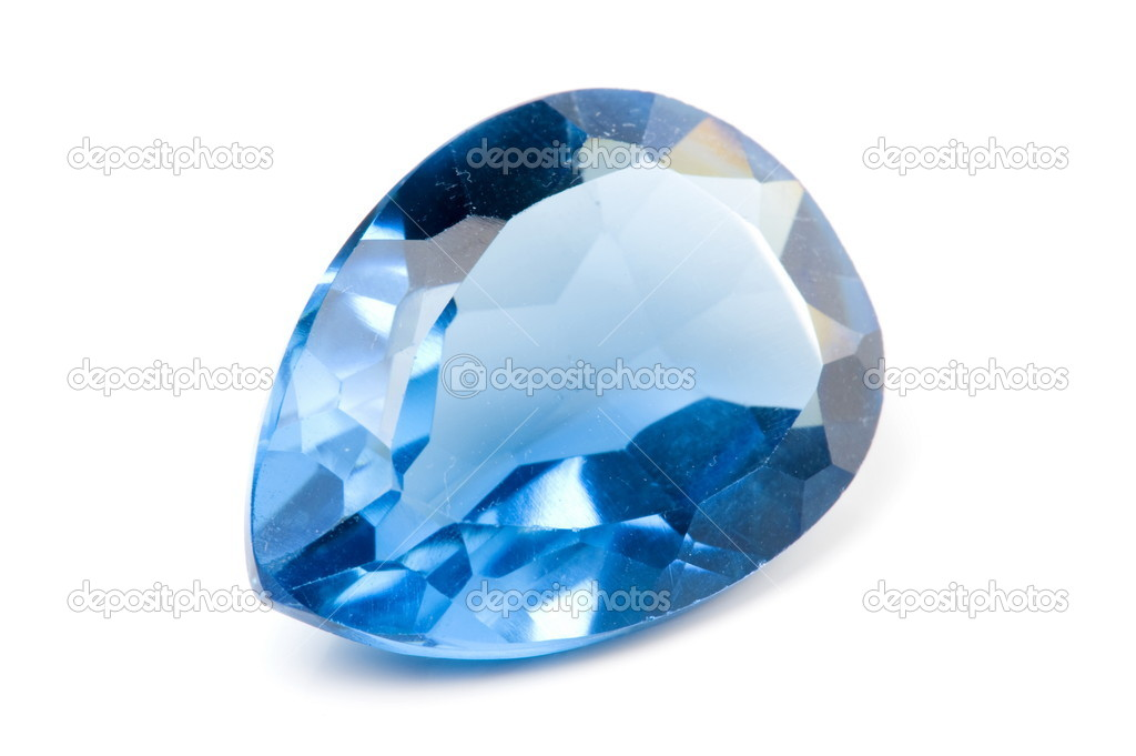 Aquamarine Gems on white background . — Stock Photo #5826676