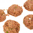 Stock Photo: Raw Meat Balls