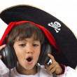 Pirate Listen Music — Stock Photo