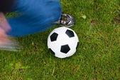 Soccer Kick — Stock Photo